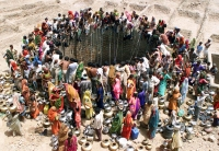 OverPopulation: Overpopulation-at-The-Giant-Well-in-Natwarghad---India